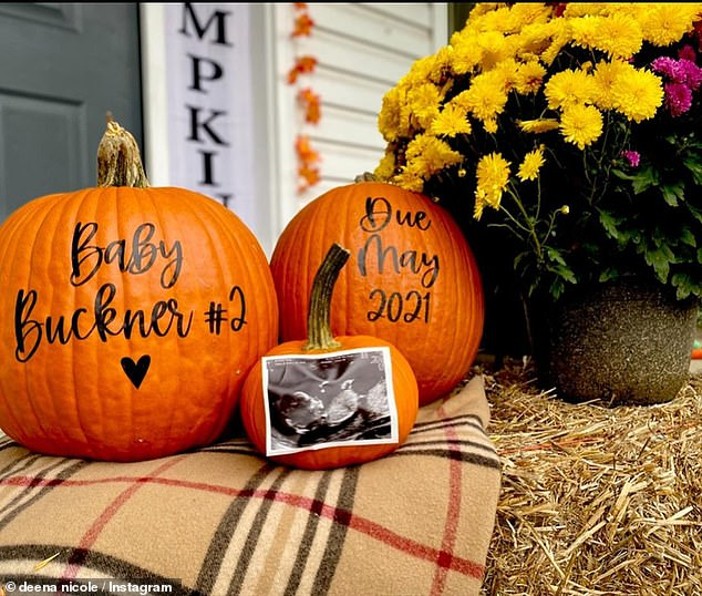Exciting:The 33-year-old Jersey Shore star revealed the exciting pregnancy news by uploading a Halloween-themed family photoshoot to her Instagram last year