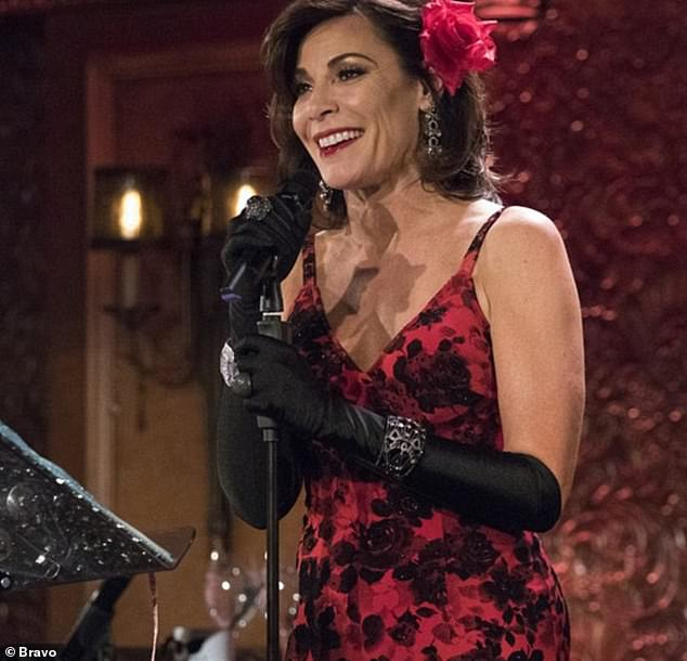 Center stage:RHONY fans will remember how Luann and Dorinda Medley got into a fight after The Countess donned a dazzling Jovani look for her cabaret show