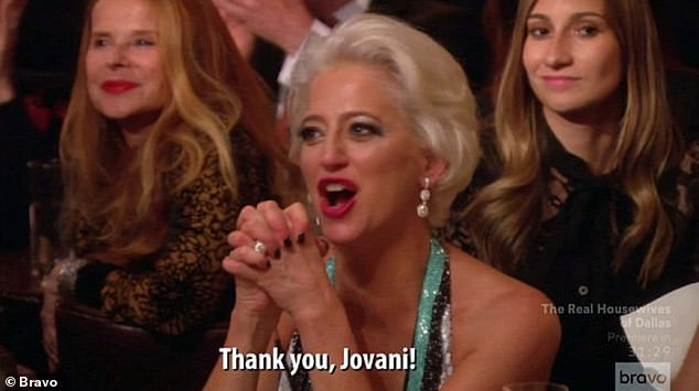 Loose: After a few drinks Dorinda got a bit rowdy in the audience and started clapping and sarcastically yelling, 'Jovani! JOVANI! Thank you, Jovani! JOVANI!' while Luann was starting her performance