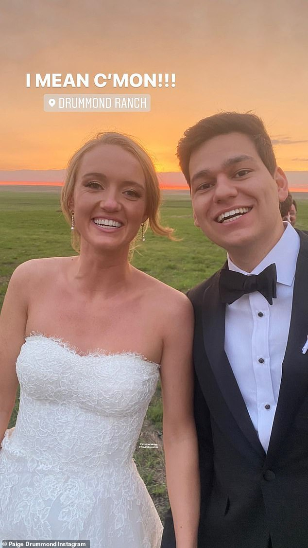 Newlyweds! The couple was over the moon to have tied the knot