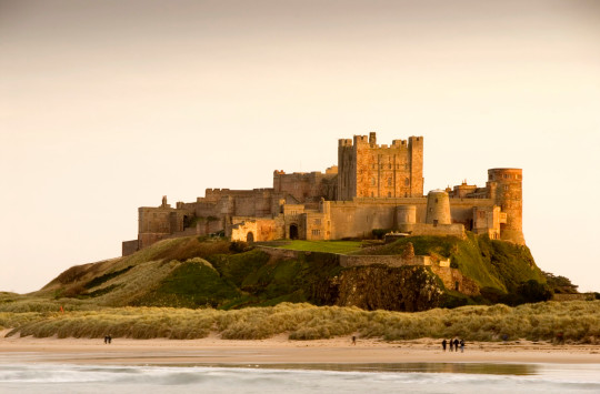 Bamburgh Castle in Northumberland,