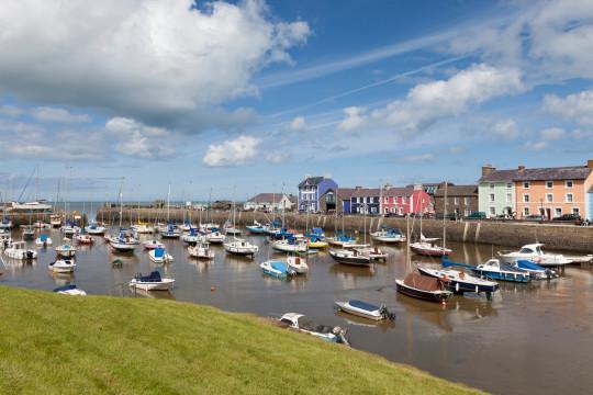 Aberaeron on the Ceredigion coast of Wales.
