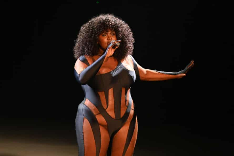 French singer Yseult wears the Mugler bodysuit during the Victoires de la Musique awards in February.