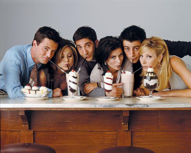 Pictured: (l-r) Matthew Perry as Chandler Bing, Jennifer Aniston as Rachel Green, David Schwimmer as Ross Geller, Courteney Cox as Monica Geller, Matt Le Blanc as Joey Tribbiani, Lisa Kudrow as Phoebe Buffay