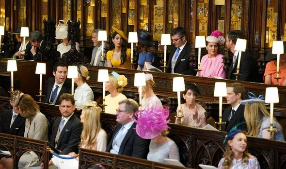 George Clooney and Alma were guests at the royal wedding