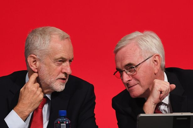 John McDonnell (right) accused Keir Starmer of not having enough solid policies