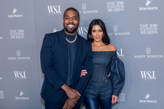 Kim Kardashian and Kanye West at the WSJ Mag 2019 Innovator Awards in 2019