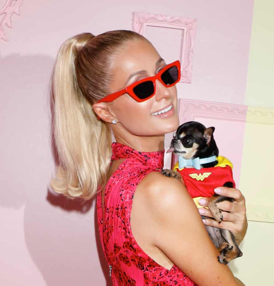 Paris Hilton at the Alice+Olivia show, New York fashion week, September 2020.