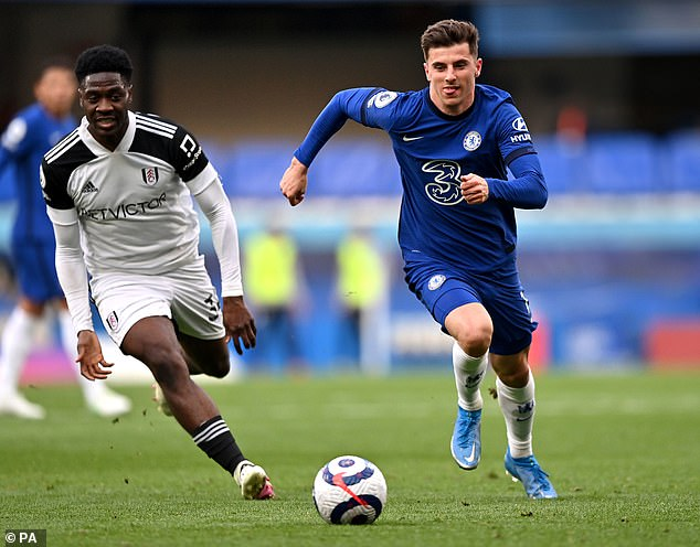 Nike says the £125 Flight 2020 ball (pictured here at the feet of Mason Mount in a Chelsea vs Fulham game this season in the Premier League) is the culmination of eight years of research dedicated to improving aerodynamics