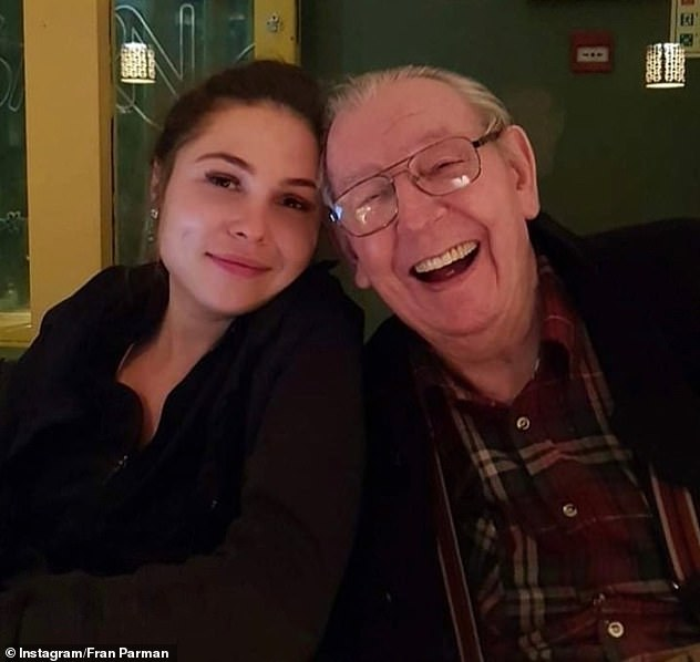 Family:The TV personality's weight ballooned by more than three stone while she cared for her elderly grandfather, who has since passed away, during Britain's first nationwide lockdown