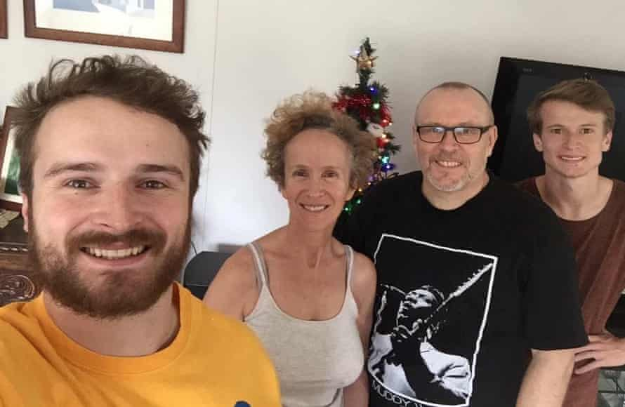Clive Smallman and Mary Haropoulou Xmas 2018 w their sons