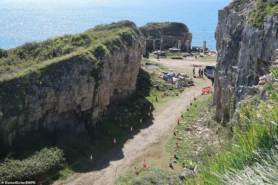 Stunning:Boasting prime, panoramic views of the Atlantic and surrounded by imposing cliffs and jagged rock formations, the site is based at the eastern end of Dorset's Jurassic Coast