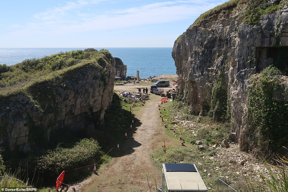 This is the place: The looming cliffs nearWinspit Quarry fit in perfectly with the dramatic backdrops traditionally used in Star Wars films