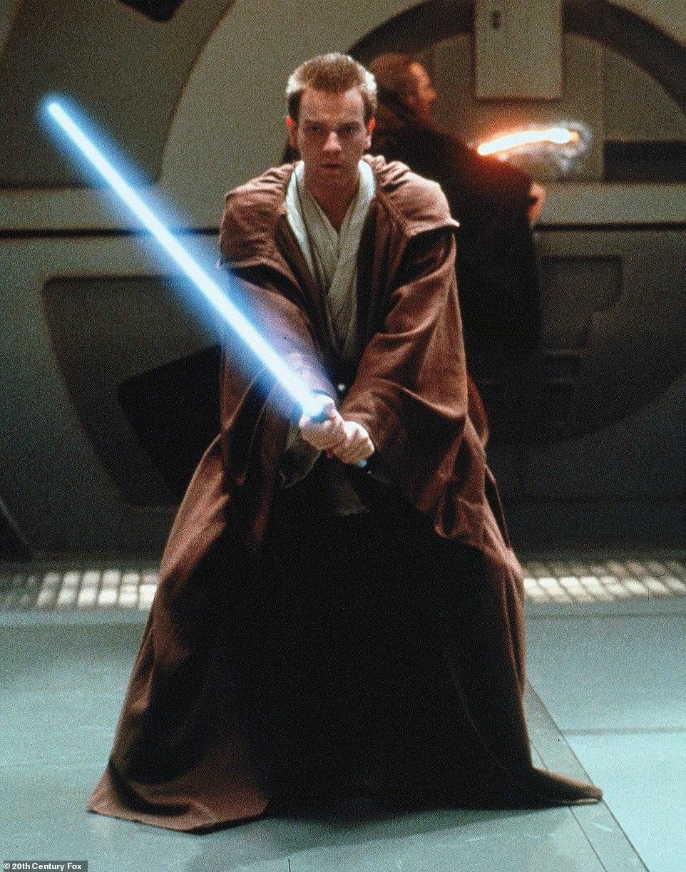 Obi Wan-Kenobi: It has been reported iconic Star Wars character Obi-Wan Kenobi will cross paths with Andor during the 12-part series (pictured actor Ewan McGregor as Kenobi in 1999)