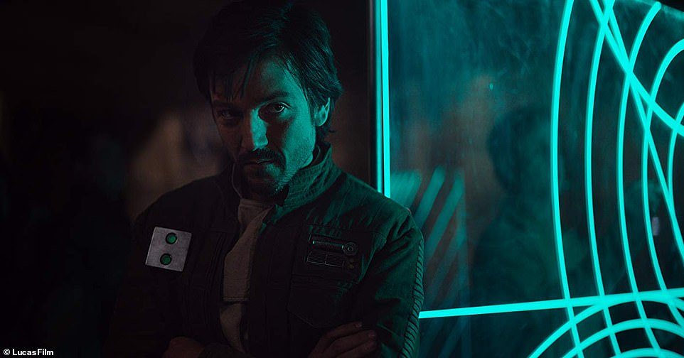 More to come:The Rogue One spinoff is just one of many Star Wars related series' in the works for Disney+ (pictured: Diego Luna in Rogue One)