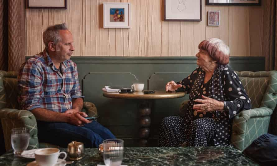 Simon Hattenstone interviewing the artist Agnès Varda in 2018