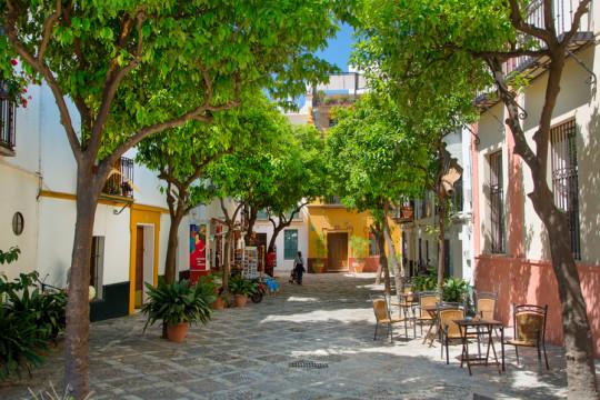 Seville, plaza in Santa Cruz District