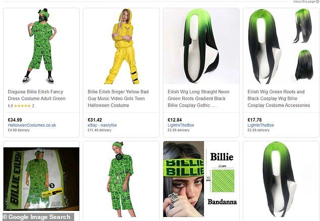 Here she is!Billie Eilish costumes are widely available online, including wigs alone, full costumes, headbands and many more sartorial nods to the singer