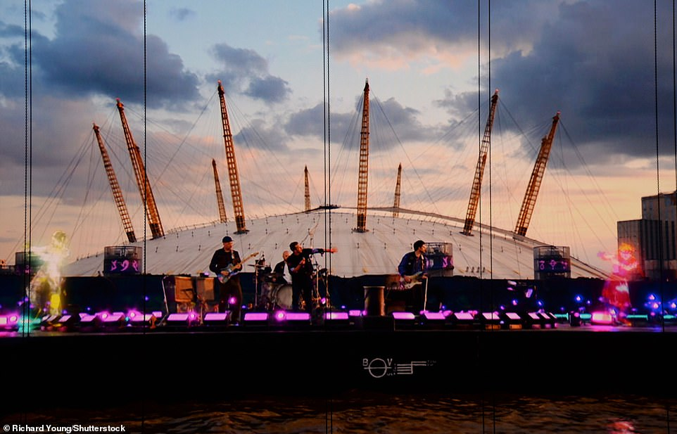 Pre-recorded:Despite a number of stars still performing live music, the 2021 ceremony saw the likes of Coldplay, pictured, Elton John and The Weeknd pre-record their sets