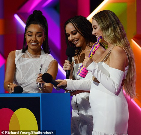 Happy: The trio paid tribute to their formerbandmate Jesy Nelsonwhile also vowing to 'stick together' after overcoming the 'misogynistic' music industry