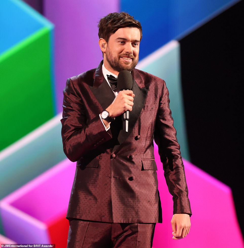 Funny:Comedian Jack Whitehall was once again tasked with hosting the awards, and as ever he didn't disappoint with a slew of jibes and tongue-in-cheek jokes including a swipe at Rita Ora