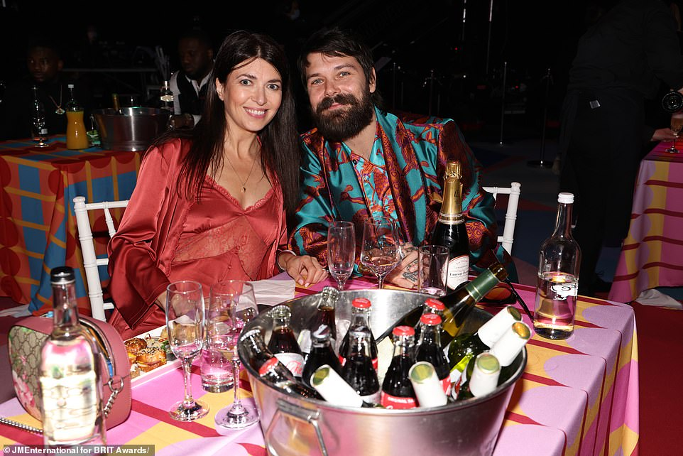 Back on stage!The ceremony broadcast live on ITV, celebrated the return to live music and nominee Dua Lipa promised those attending that it would 'be a night to remember' (Simon Neil of Biffy Clyro is pictured)