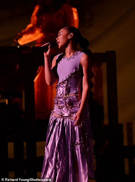 Breathtaking performance: : Griff captured the audience's attention as she put on a rousing performance of Black Hole
