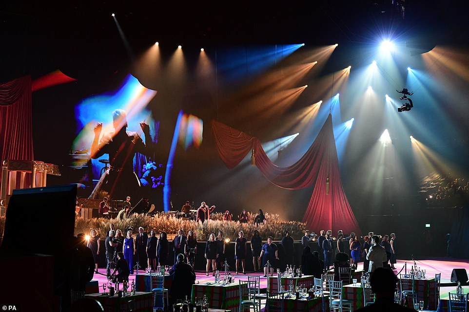 Show-stoppers: Their big performance rounded out a slew of show-stopping moments during the star-studded ceremony