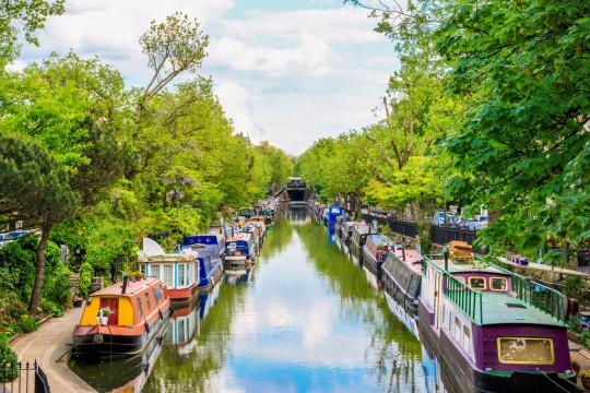 Regent's canal, Little Venice in London, UK