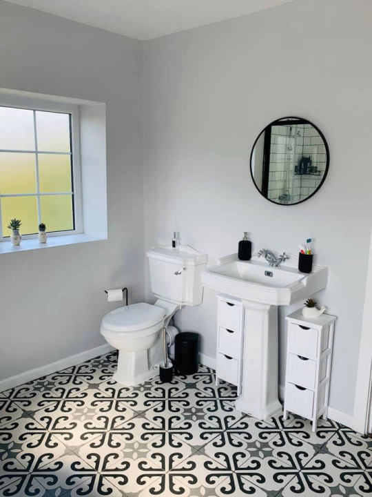 The bathroom after