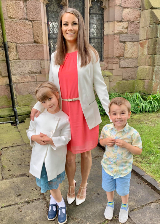 Emily Barratt with her daughter Minnie and son Rory