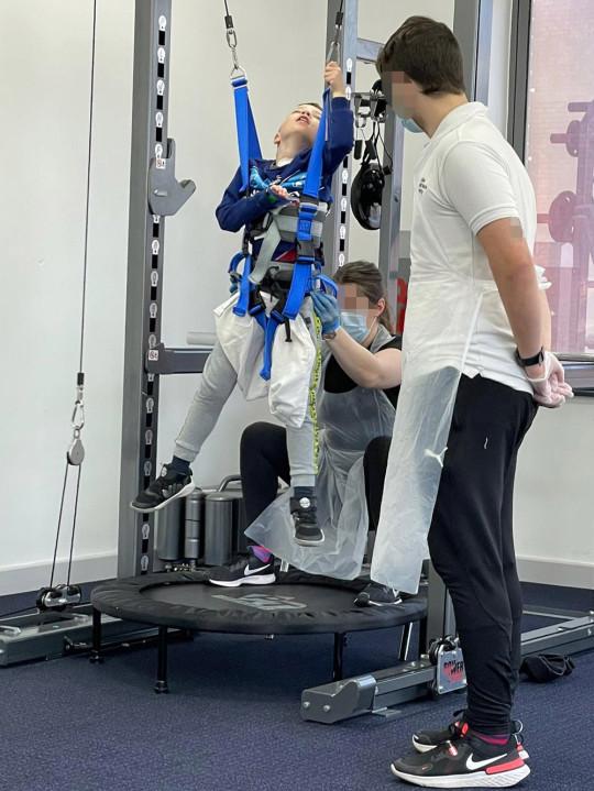 Josh having physiotherapy at Neurokinex. PA Real Life Collect