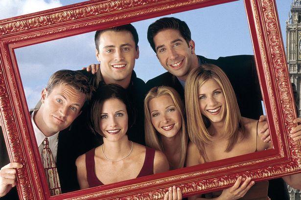 Matthew Perry as Chandler Bing, Matt Le Blank as Joey Tribbiani, David Schwimmer as Ross Geller, Jennifer Aniston as Rachel Green, Lisa Kudrow as Phoebe Buffay, Courteney Cox as Monica Geller in Friends