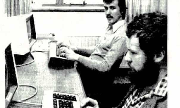 MUD men … Roy Trubshaw, foreground, and Richard Bartle.