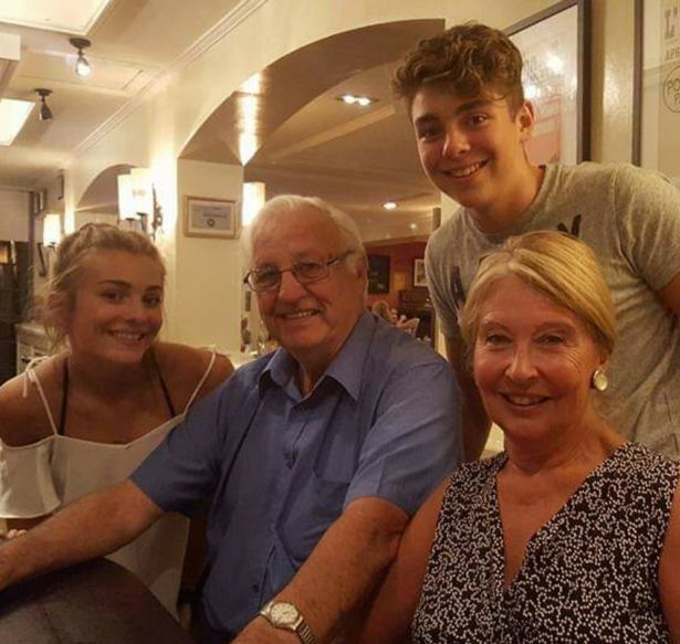 Terry and Suzanne Fleming with their grandchildren