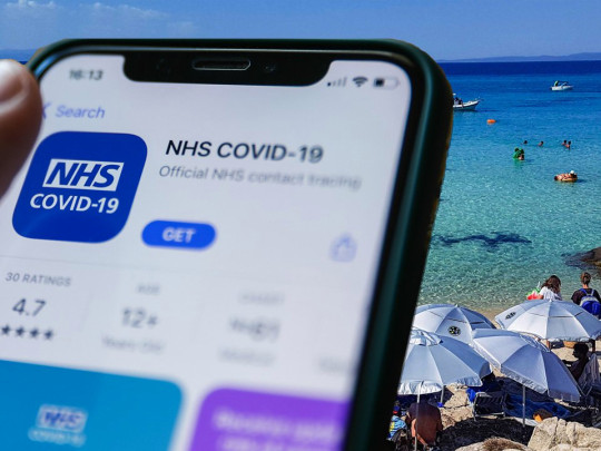 NHS app download screen