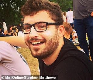 Pictured, MailOnline health editor Stephen Matthews