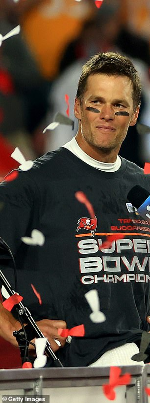 Tampa Bay Buccaneers quarterback Tom Brady after he won the seventh Super Bowl of his career on Feb. 7, 2021