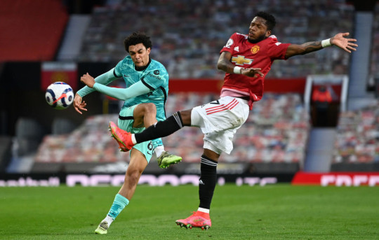 Fred struggled during Manchester United's defeat against Liverpool