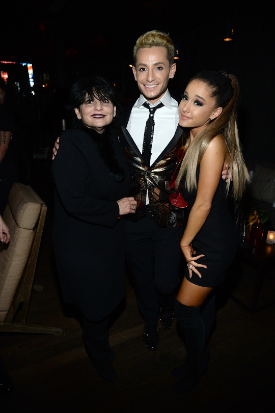 Ariana Grande with mum Joan and brother Frankie