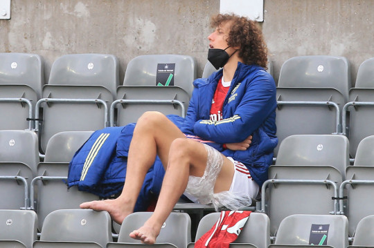 David Luiz suffered a hamstring strain during his Arsenal comeback match against Newcastle earlier this month