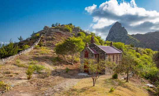 A church in the highland of Saint Helena Island
