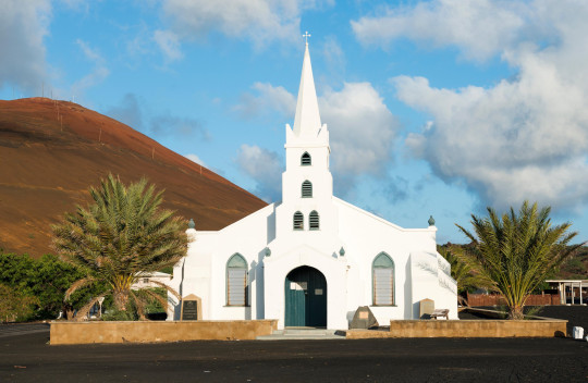 H7BTG0 Ascension Island St Mary's Church Georgetown part of the Anglican diocese of St Helena