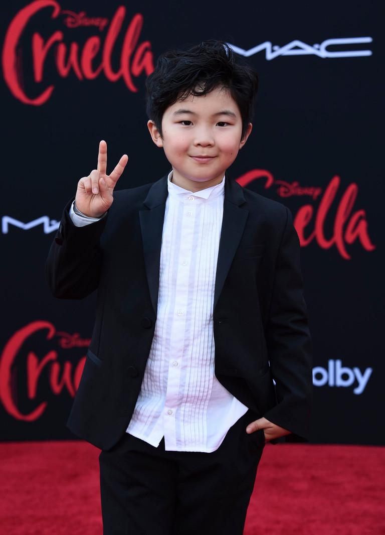 Alan Kim at the Cruella premiere