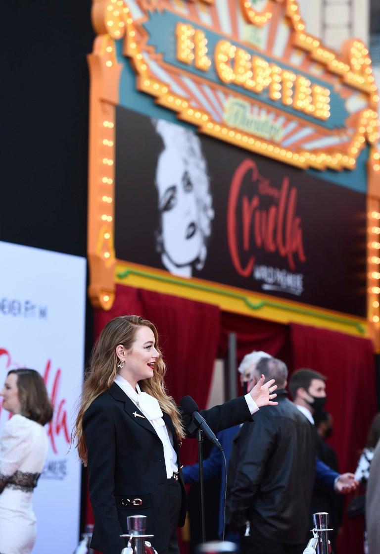 Emma Stone at Cruella premiere