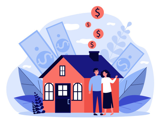People buying property with bank credit
