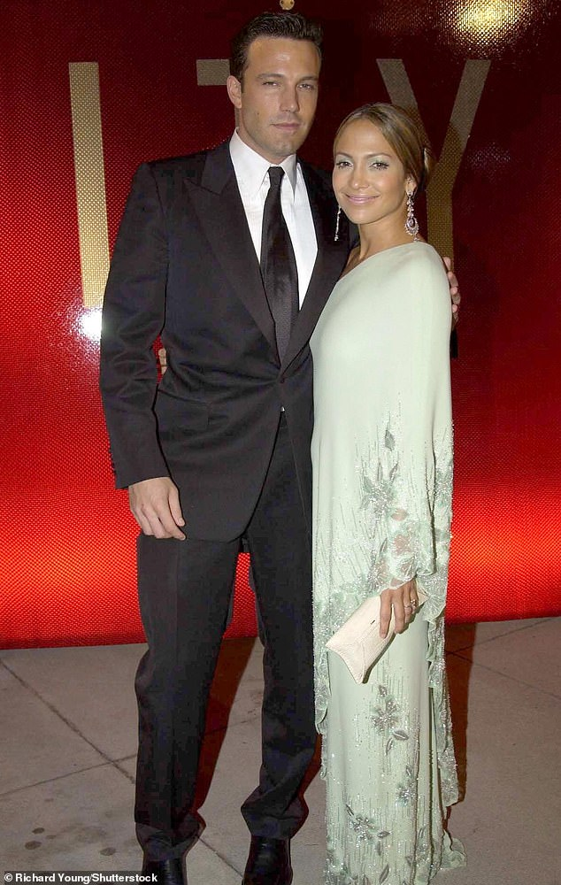 Hollywood favorites: The former celebrity couple were engaged in 2002 but postponed their 2003 wedding and officially split in 2004, Pictured here in March 2003