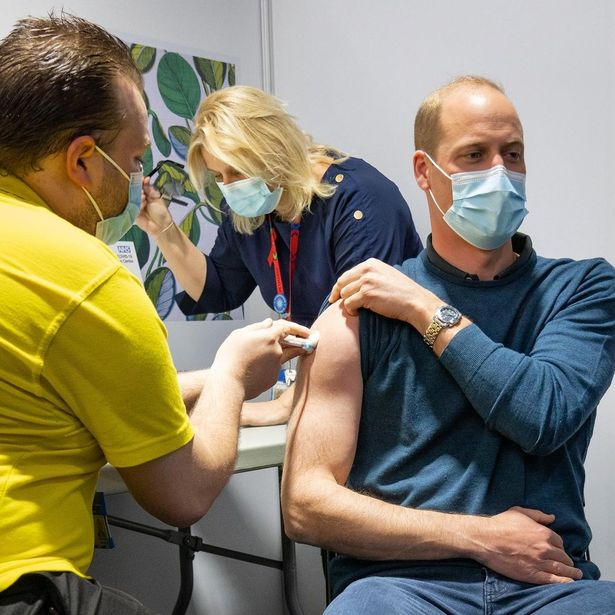 Prince William receiving the vaccine