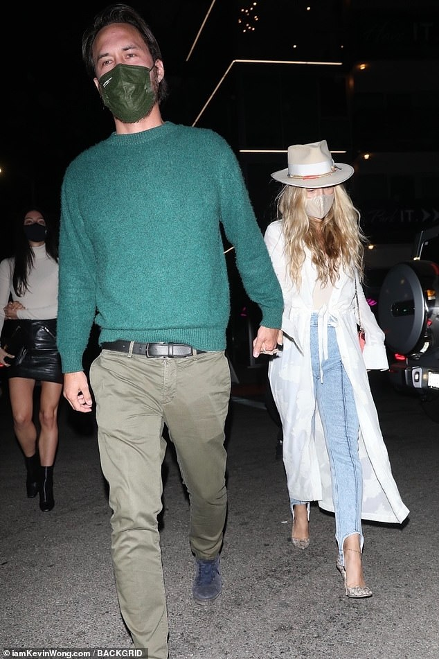 Date night: Kate Hudson and boyfriend Danny Fujikawaseen arriving to Kendall Jenner's star-studded 818 tequila launch party at the Nice Guy in West Hollywood this Friday evening