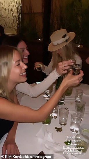 A toast! During the dinner, the Firework singer raised a glass to Kendall, toasting to 'female entrepreneurs!'